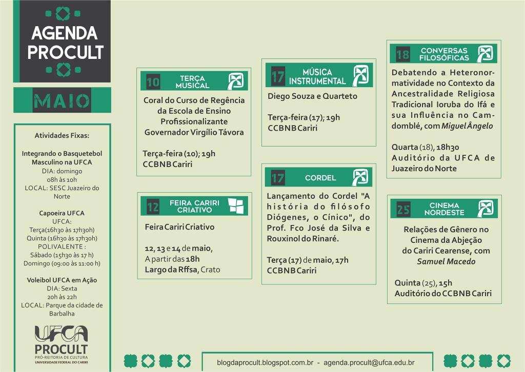 Agenda de Maio 2016