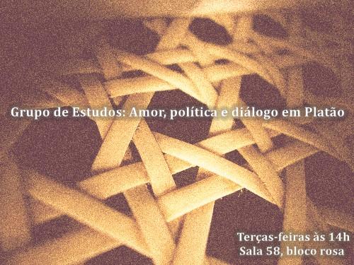 cartaz diálogo, amor, política